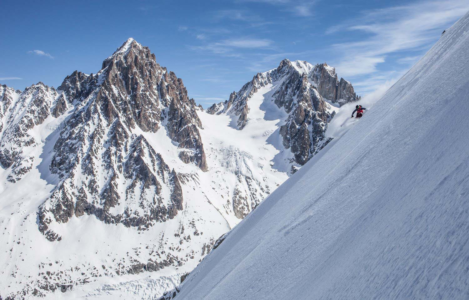 Holly Walker on Argentiere Glacier in Chamonix. Photo by Sebastien Baritussio.